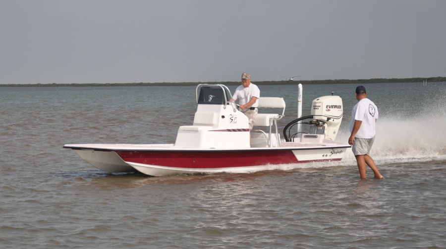 Shoalwater boats 21 foot catamaran shallow fishing boat for Shallow water fishing boats